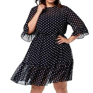 Betsey Johnson Polka Dot Ruffle Hem Dress Size 14W